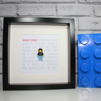 KNIGHT RIDER - FRAMED CUSTOM LEGO MINIFIGURE - THE HOFF - AWESOME