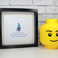 THE GENIE - FRAMED LEGO DISNEY COLLECTABLE MINIFIGURE - ALADDIN