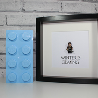 GAME OF THRONES - NED STARK - FRAMED CUSTOM LEGO MINIFIGURE