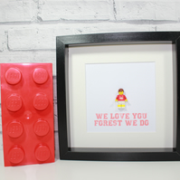 NOTTINGHAM FOREST - FRAMED CUSTOM LEGO MINIFIGURE