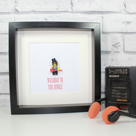 SLASH - GUNS N ROSES - FRAMED CUSTOM LEGO MINIFIGURE - QUIRKY