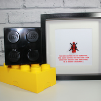 DEADPOOL - I'm not saying - Fathers Day Special - Framed minifigure - Dad - Dadd