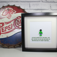 THE HULK - Father's Day special - I'm not saying - Dad - Daddy - Framed Lego min