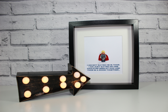 THOR - Father's Day Special - Framed Lego minifigure - I'm not saying Dad Daddy
