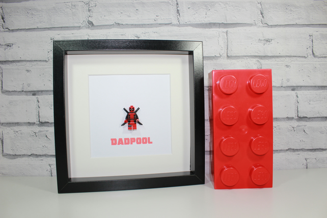 DEADPOOL - Fathers Day - DADPOOL - Quirky minifigure - Lego - Dad - Daddy