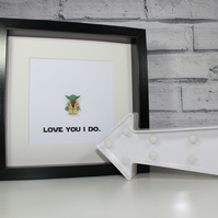 VALENTINE'S DAY - YODA - STAR WARS - SPECIAL - FRAMED MINIFIGURE - LOVE