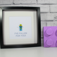SKYDIVER - VALENTINES DAY SPECIAL - FRAMED LEGO MINIFIGURE - AWESOME GIFT