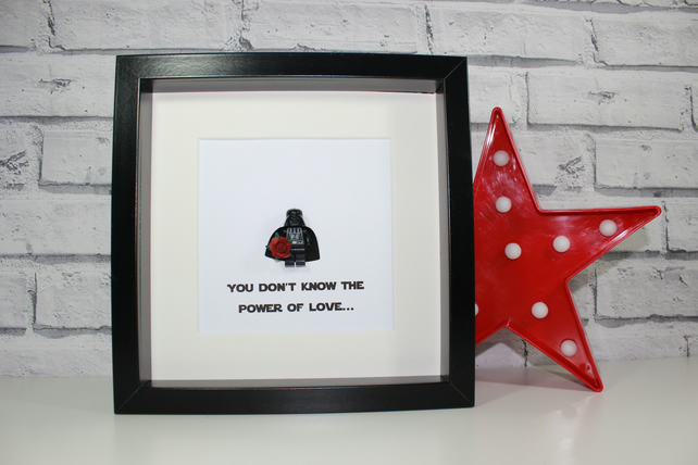 DARTH VADER - VALENTINE'S DAY SPECIAL - FRAMED LEGO STAR WARS MINIFIGURE