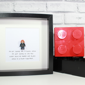 MOTHERS DAY - Black Widow - Framed lego minifigure - Awesome gift - mum - mummy