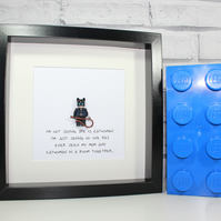 CATWOMAN - Framed Lego minifigure - I'm not saying... - Awesome Mothers Day gift