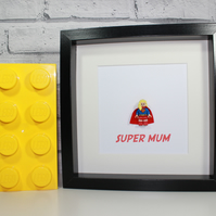 LEGO SUPERGIRL - Framed minifigure - Mothers Day Special - Super Mum - Mummy