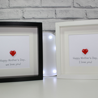 MOTHERS DAY SPECIAL - Framed Lego custom heart - great gift for mum - mummy