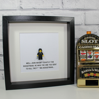 JOHN WICK - FRAMED CUSTOM LEGO MINIFIGURE - KEANU REEVES - AWESOME ART