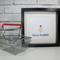 REAL MADRID - CUSTOM LEGO MINIFIGURE - FRAMED - SUPERB ART WORK
