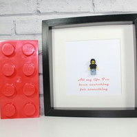 DAVE GROHL - Foo Fighters - Framed custom Lego minifigure - awesome tribute art
