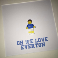 EVERTON FC - Framed custom Lego minifigure