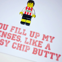 SHEFFIELD UNITED - Framed Custom Lego minifigure - Football - Footballer