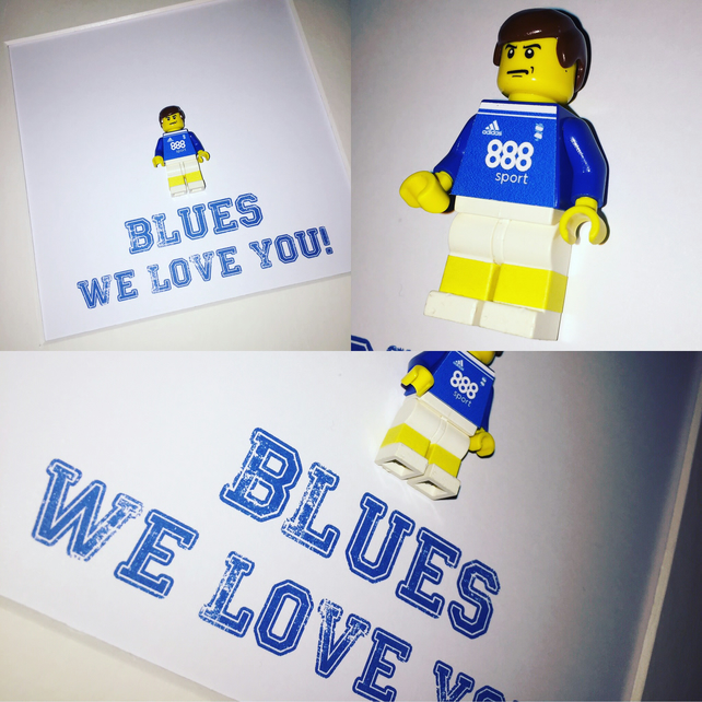 BIRMINGHAM CITY - Framedup custom Lego minifigure - Football