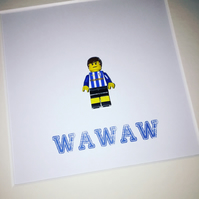 SHEFFIELD WEDNESDAY - Framed custom Lego minifigure - Footballer