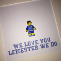 LEICESTER CITY - FRAMED CUSTOM MINIFIGURE - PREMIER LEAGUE CHAMPIONS 2016