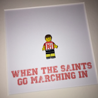SOUTHAMPTON FC - Framed custom Lego minifigure - Football - Footballer