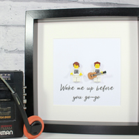 WHAM - Framed custom Lego minifigure - Awesome tribute art