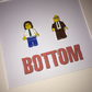 BOTTOM - Framed custom Lego minifigures - BBC Sitcom - art