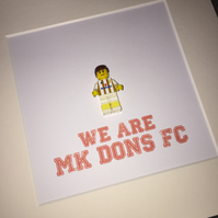 MK DONS - Framed custom Lego minifigure - Awesome art work