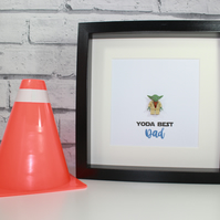 YODA BEST - DAD - DADDY - FATHERS DAY SPECIAL - Framed Lego minifigure - Gift