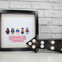 STRANGER THINGS - Framed custom minifigures - Awesome TV art work