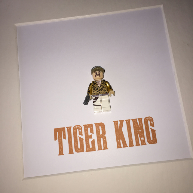 TIGER KING - FRAMED CUSTOM MINIFIGURE - JUST AWESOME