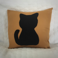 Cat Applique Cushion