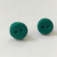 Green Polymer Clay Button Earrings