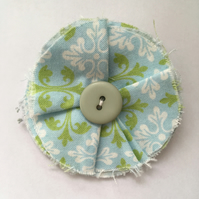 Shabby Chic Pastel Green & Blue Hair Clip