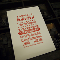 River Song invitations letterpress bespoke invitation custom order