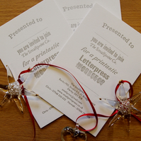Gift voucher for The Smallprint Company Letterpress Workshop Gifts or Commission