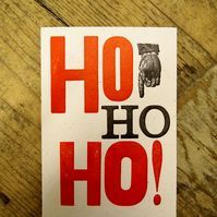 Ho ho ho Charity Letterpress Christmas card