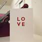 NEW LOVE design letterpress card wedding anniversary valentine