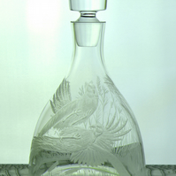 Wine whisky decanter pheasants