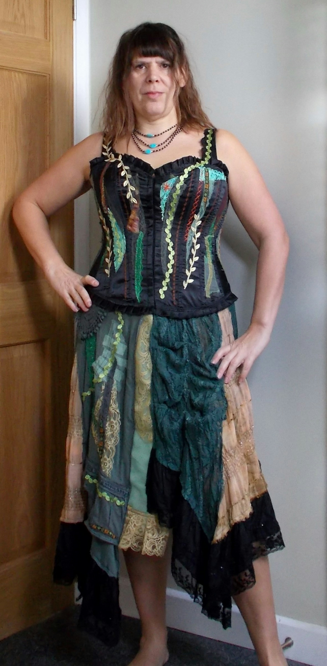 Christmas Dress Autumn Glow Bohemian Hippie Romantic Corset Burlesque Steampunk
