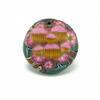 Cupcake Pendant Polymer Clay
