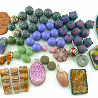 Bumper Polymer Clay Bead and Pendant Selection