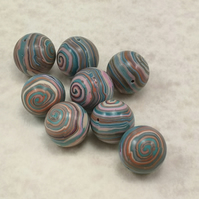 Polymer Clay Striped Beads