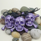 Polymer Clay Skull and Crossbones Hanging Decorations - Set of 3