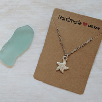 Star Fish Necklace Silver beach Necklace
