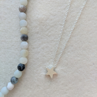 Star Necklace Tiny Star Necklace  Silver Necklace Gold Necklace