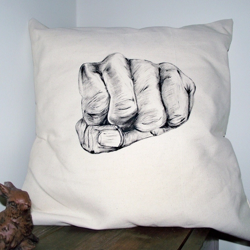 'Stone' paper,scissors,stone Cushion