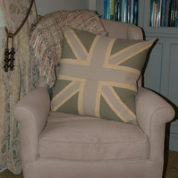 "20"" Luxurious, handmade Union Jack themed cushions in glorious colours"