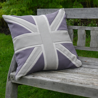 "20"" Luxurious, handmade Union Jack themed cushions in contemporary colours"