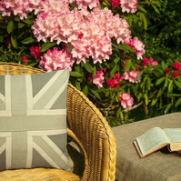 "18"" Handmade in the UK Union Jack themed luxury cushion. Free delivery"